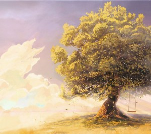 Tree-Swing-Leaves-Painting-Anime-Art-854x960